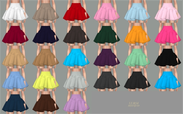 Big Flare Mini Skirt by marigold
