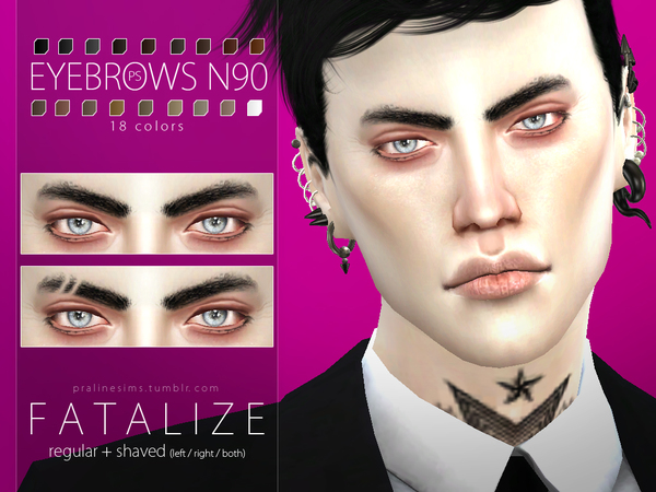 Fatalize Eyebrow Duo by Pralinesims