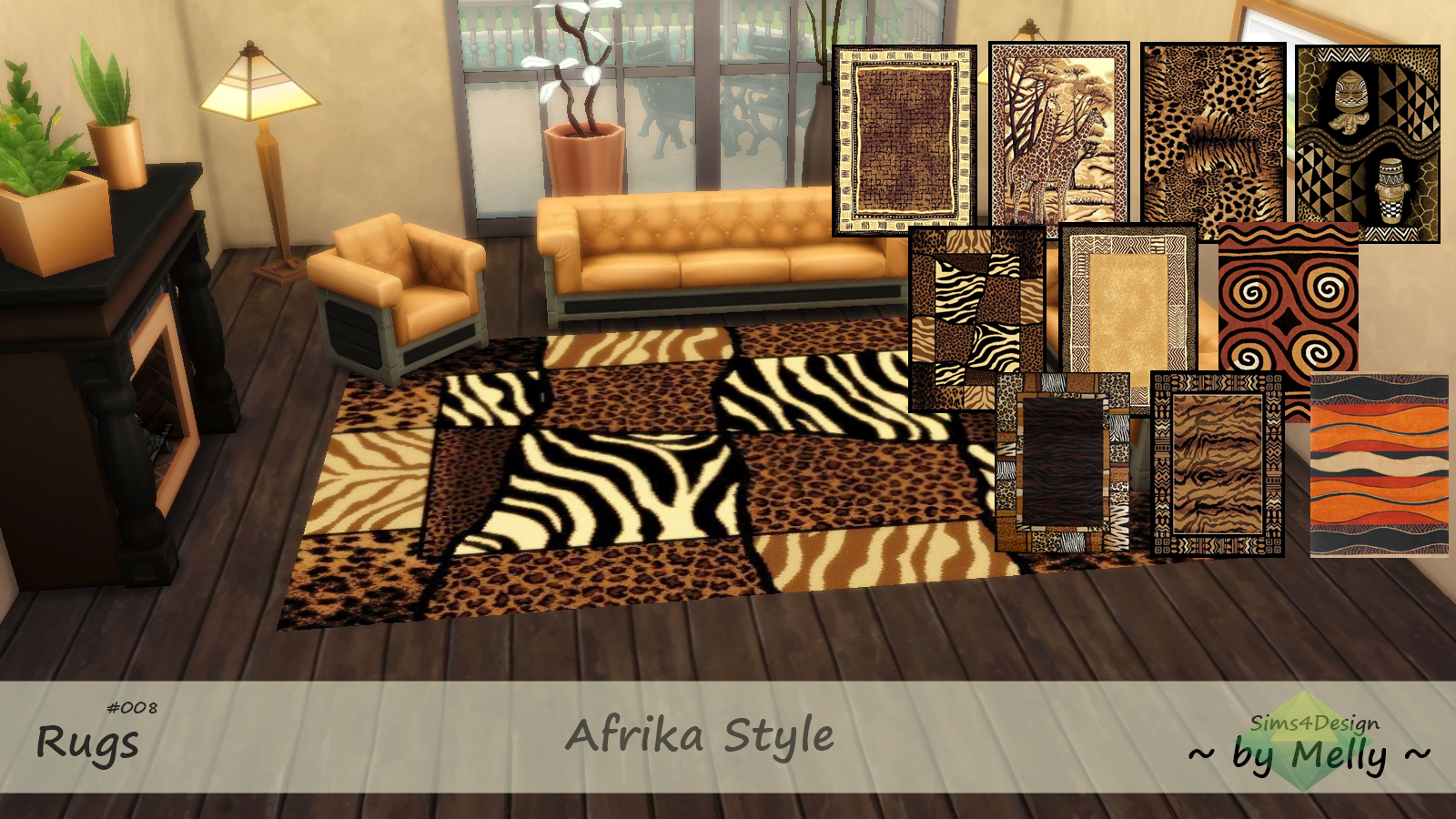 African Style Rugs by Melly