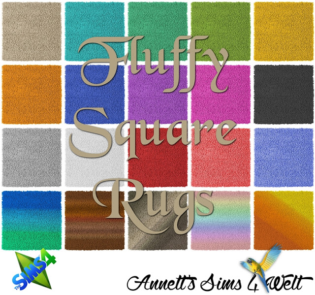 Fluffy Square Rugs by Annett85