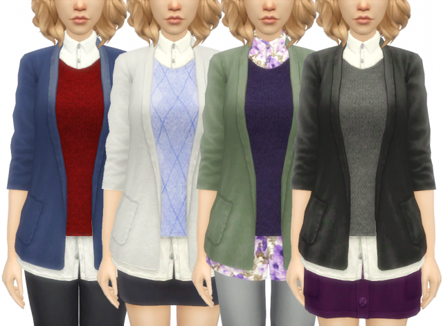 TS3 Prep School Top Conversion for for TF-EF by Pickypikachu