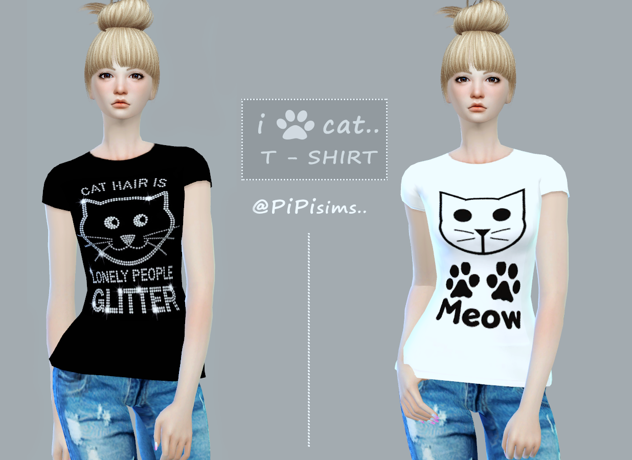 PIPI - love cat T- SHIRT by PIPITS4