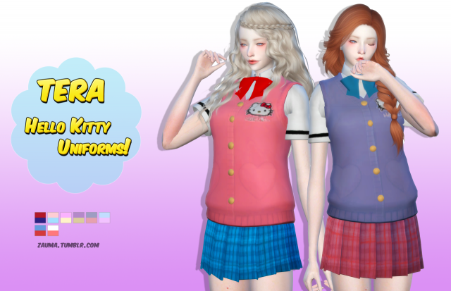 Tera Hello Kitty Uniforms for Females by Zauma