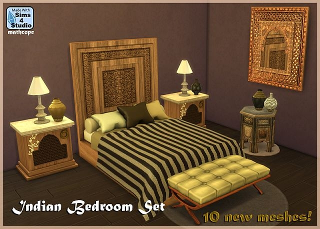 Indian Bedroom Set by Mathcope