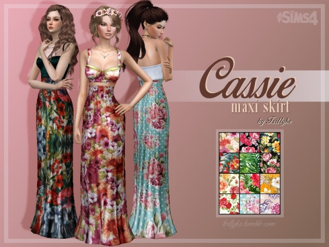 Cassie Maxi Skirt by Trillyke