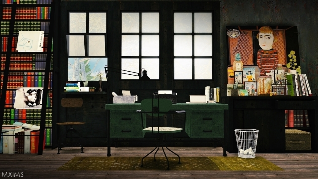 Antique Industrial Office by MXIMS