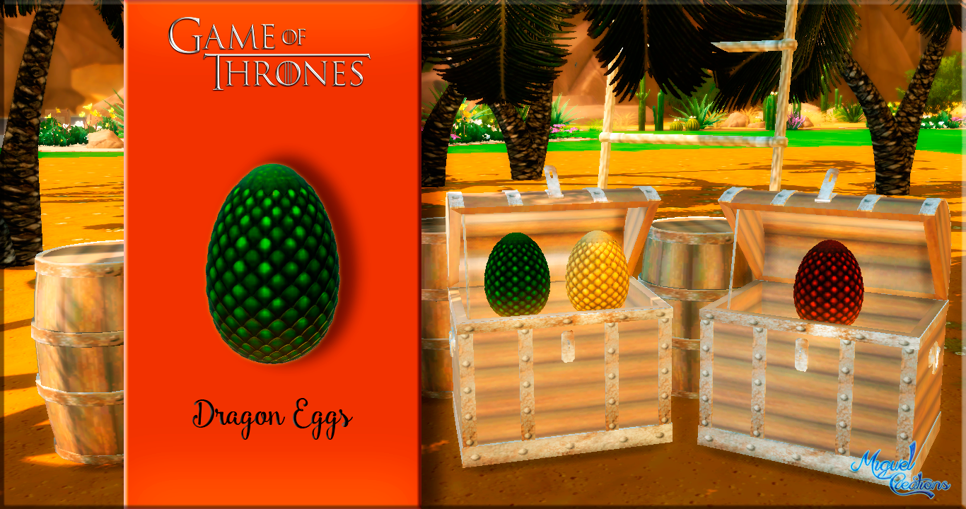 Game Of Thrones Dragon Eggs by Miguel