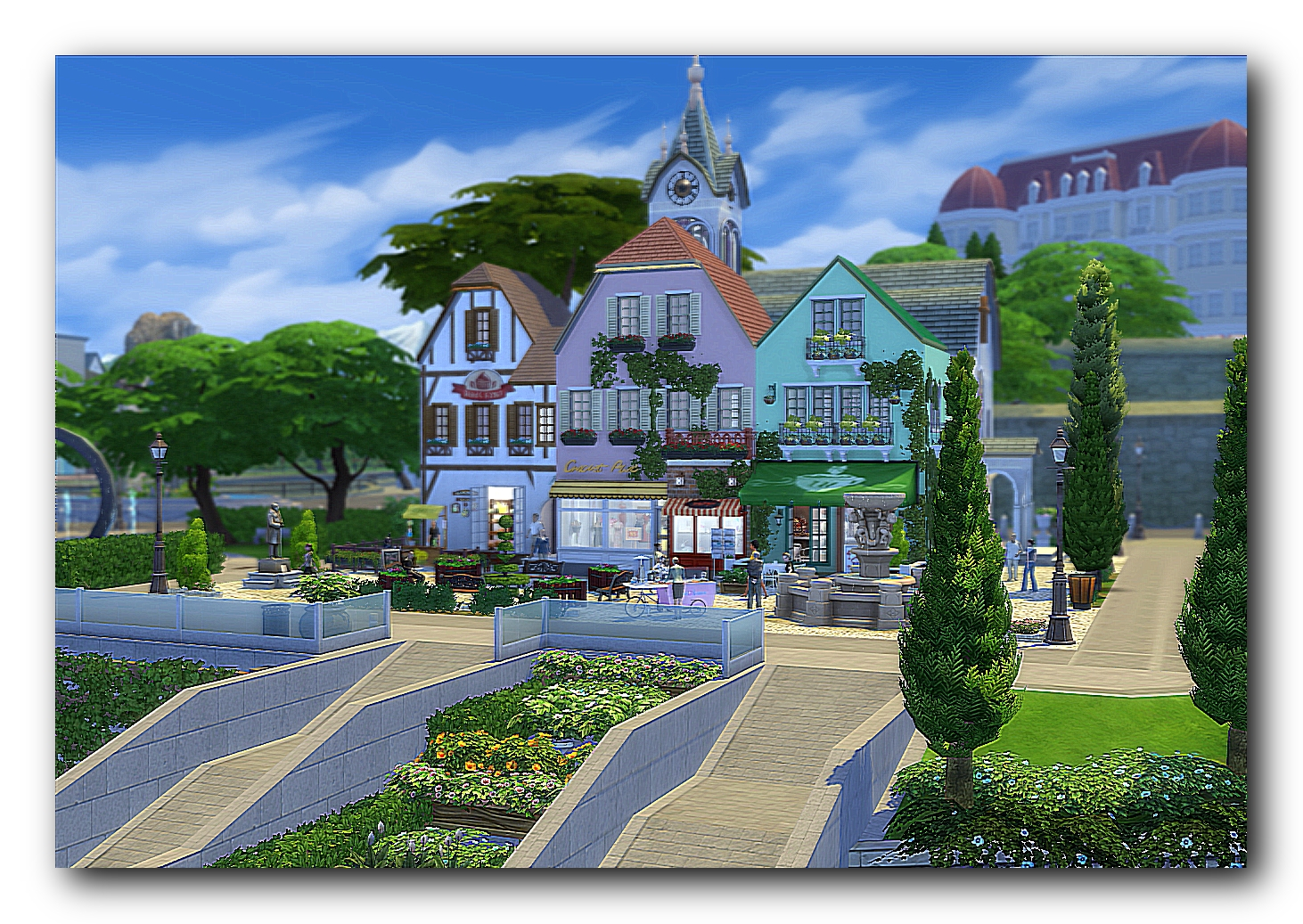 St. Michael's Church and Shops by Dalila