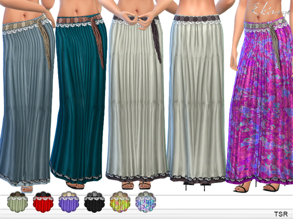 Tiered Maxi Skirt by ekinege