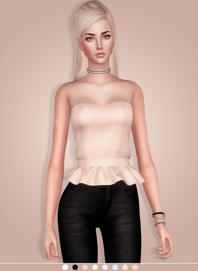 Top With Frill by MariaMaria