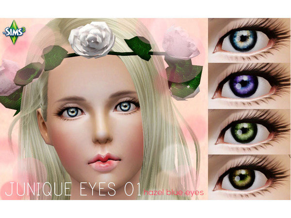 Junique Eyes 01: Hazel Blue Eyes by kippum99