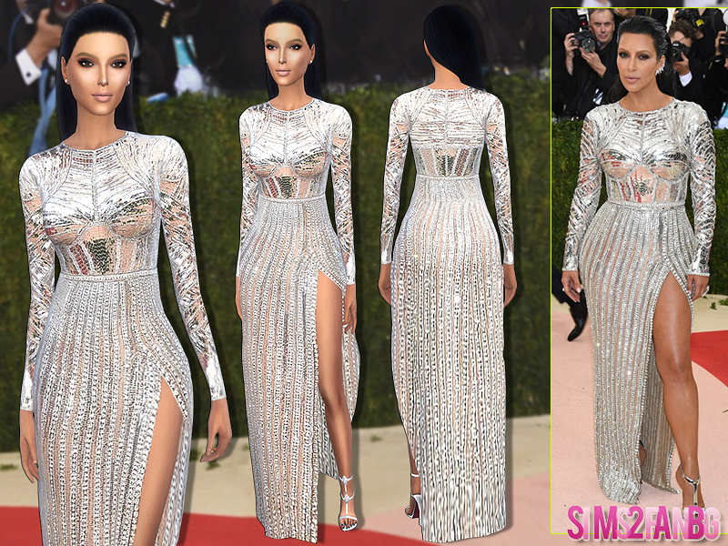 170 - Kim Kardashian Met Gala'16 Dress  BY sims2fanbg