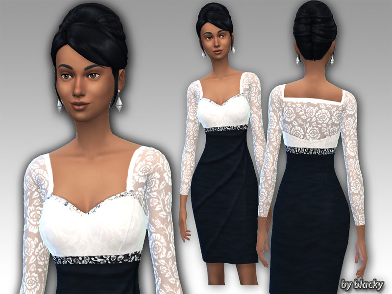 Black White Eveningdress 1  BY blackypanther