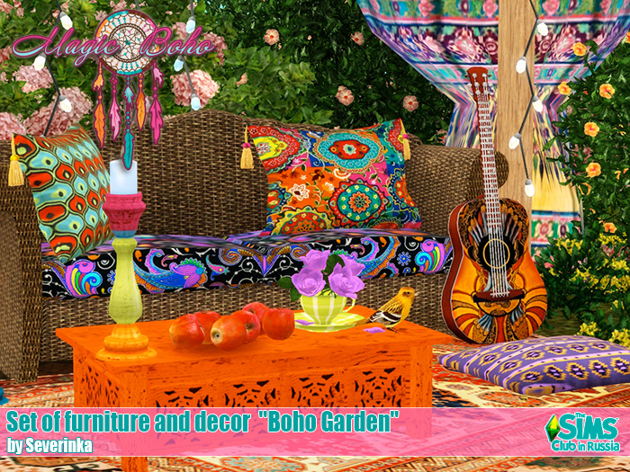 "Set of furniture and decor ""Boho garden"" by Severinka"