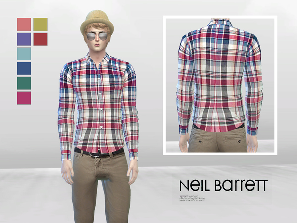 Tyler Plaid Button-Up Shirt by McLayneSims