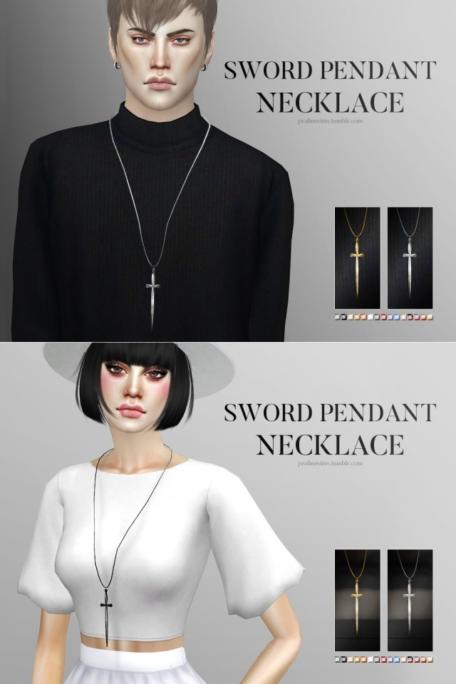 Sword Pendant Necklace by Pralinesims