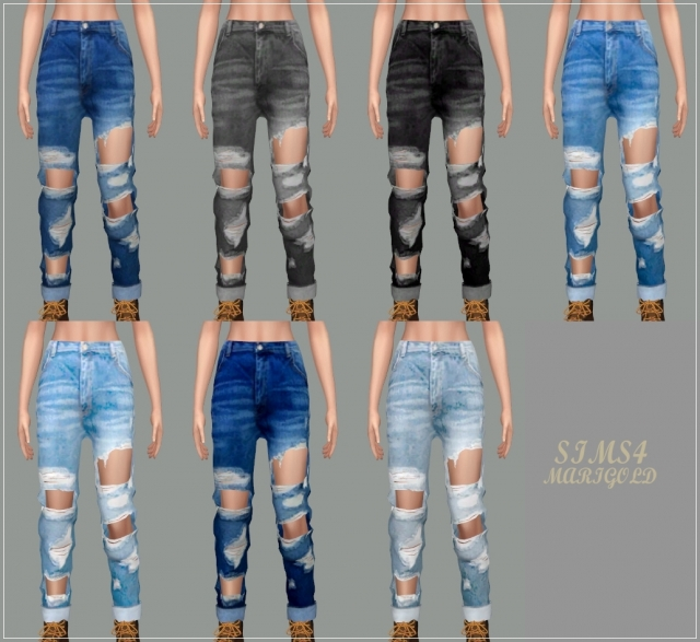 Female Destroyed Jeans by marigold