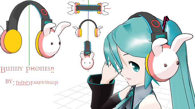 Bunny_Headphone by K-SIMS-7