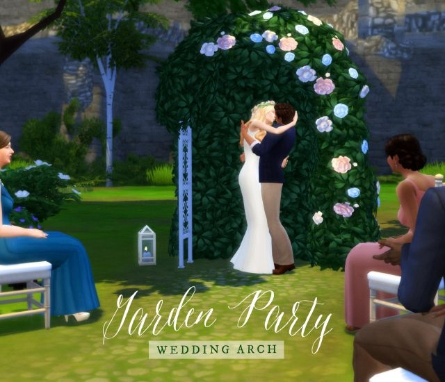 Garden Party Wedding Arch by FemmeOnAMissionSims
