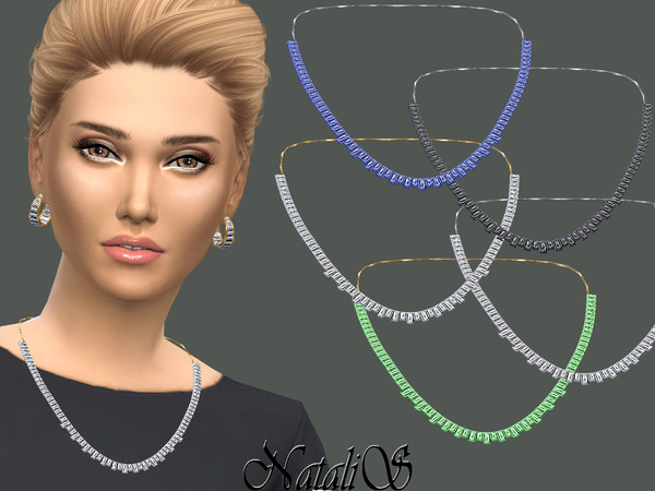 NataliS_Baguette crystals necklace