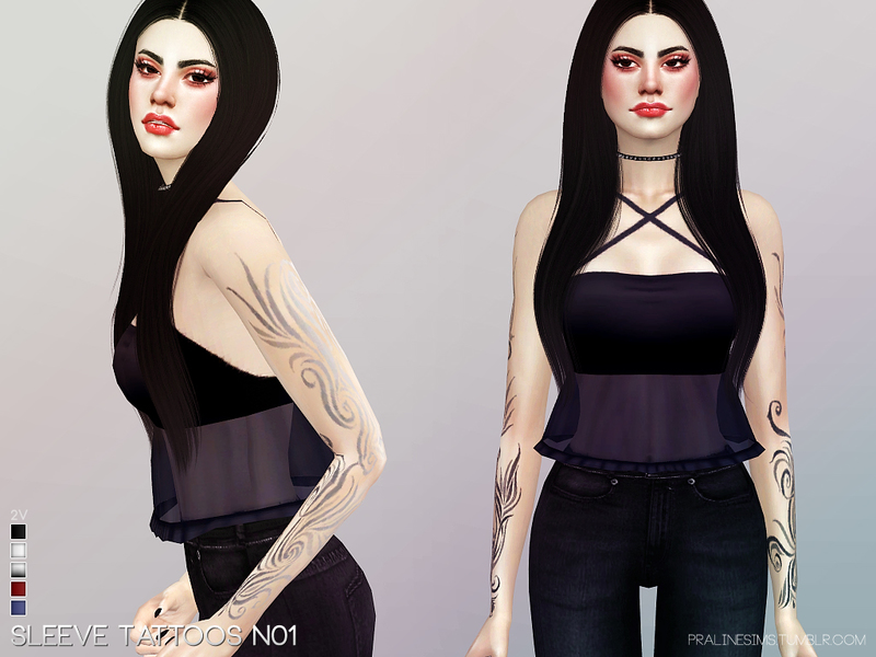 Sleeve Tattoos N01 by Pralinesims