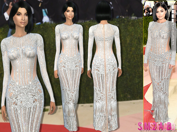 171 - Kylie Jenner Met Gala'16 Dress by sims2fanbg