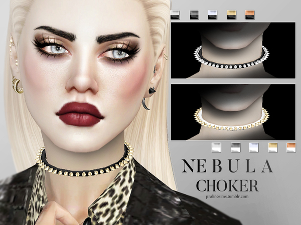 Nebula Choker Female by Pralinesims