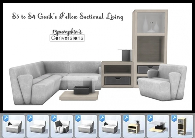 TS3 Fellow Sectional Living Conversions by 13Pumpkin