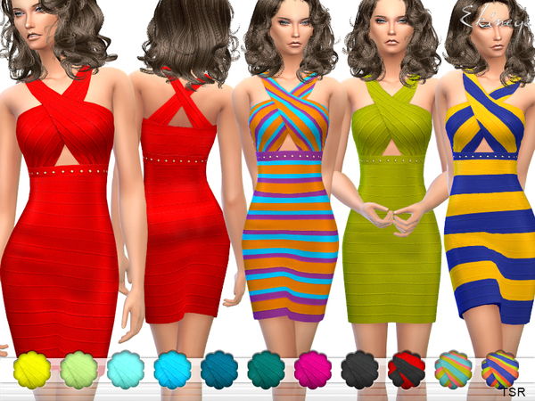 Crisscross Bandage Dress by ekinege