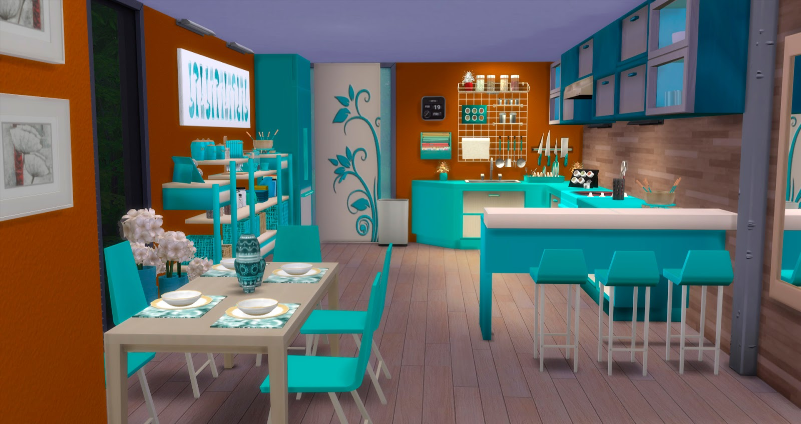 Kitchen and dining Altea by Mary Jimnez by pqSims4