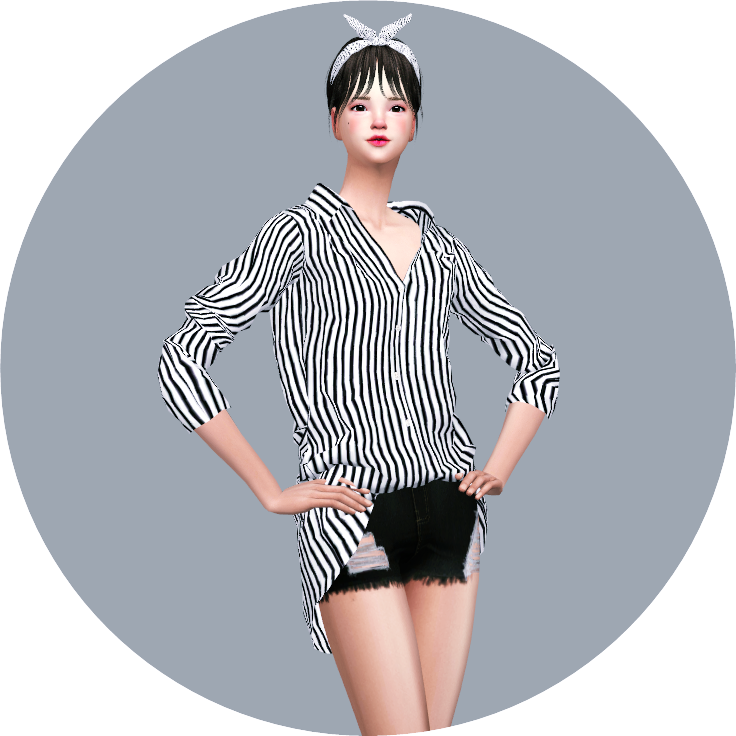 [Fix]Loose-Fit Shirt Open Neck by Marigold