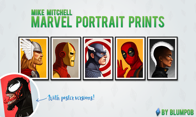 Marvel Portrait Prints & Posters by Blumpob