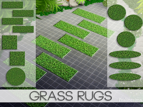 Grass Rugs by Pralinesims