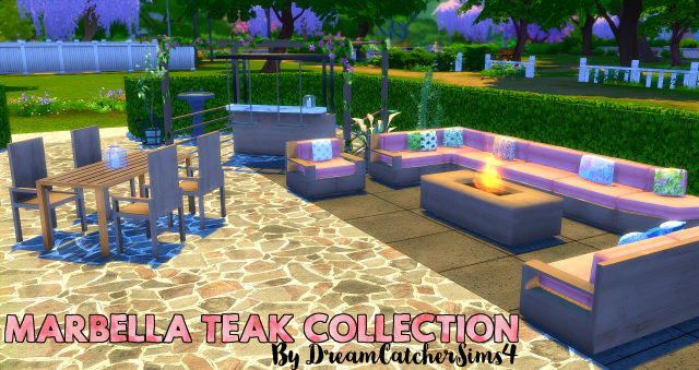 Marbella Teak Garden Collection от DreamcatcherSims4
