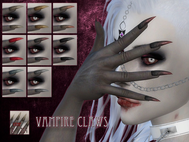 Vampire claws - FEMALE - mesh needed by RemusSirion