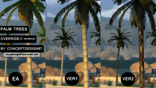Palm Trees Default Replacement (2 versions) by ConceptDesign97