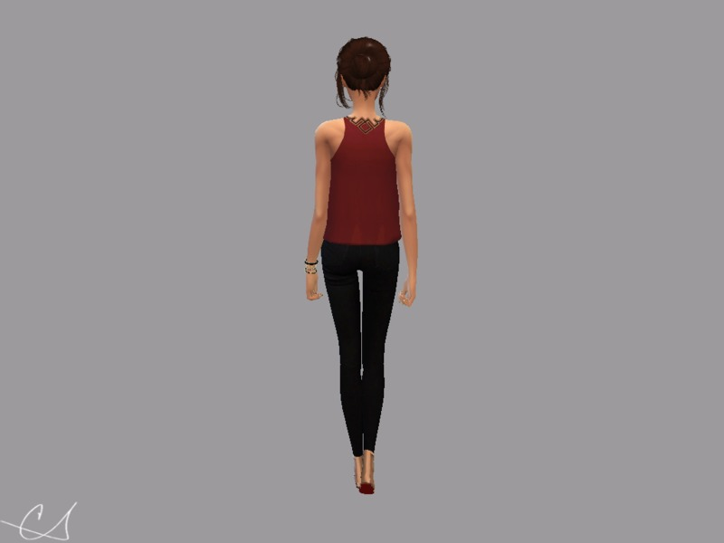 Back LEON Tank Top  CShell067 - Get to Work Needed! by christopher067