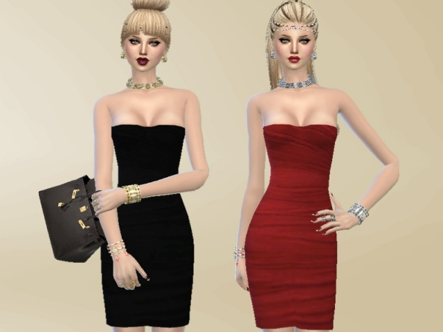 Sensual neckline dress by Celeste25