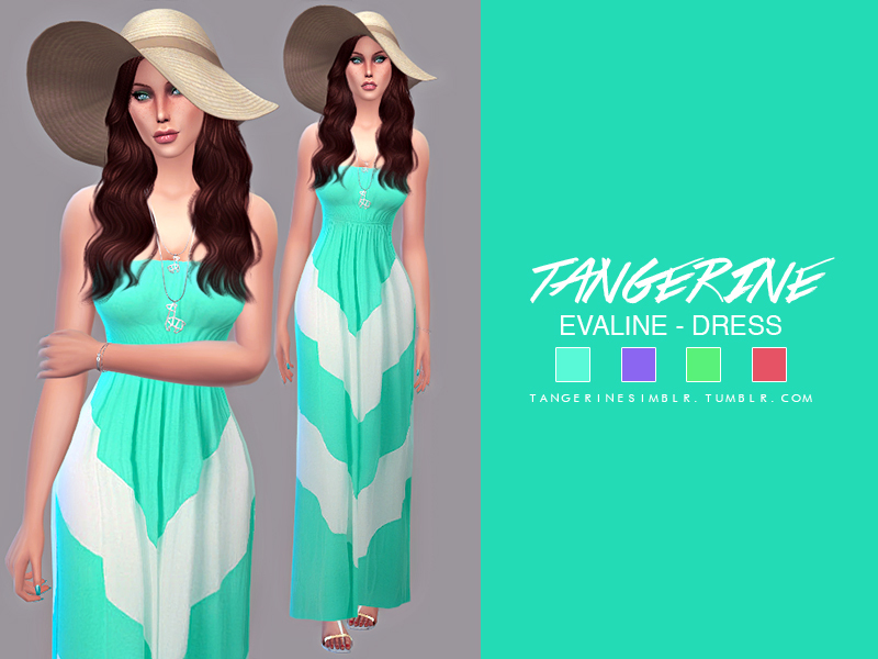 Evaline - Dress by tangerinesimblr