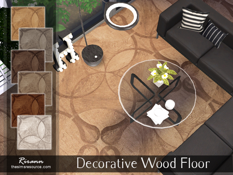 Decorative Wood Floor by Rirann