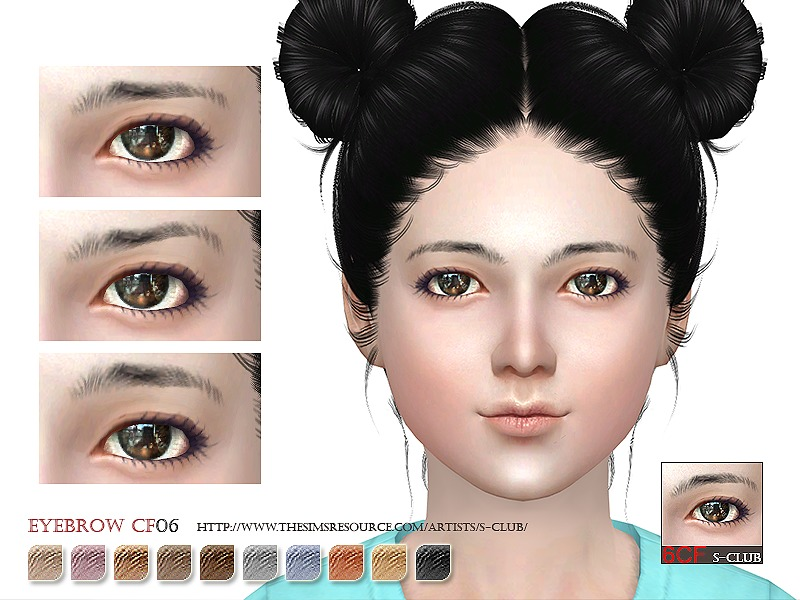 S-Club WM thesims4 Eyebrows06CF