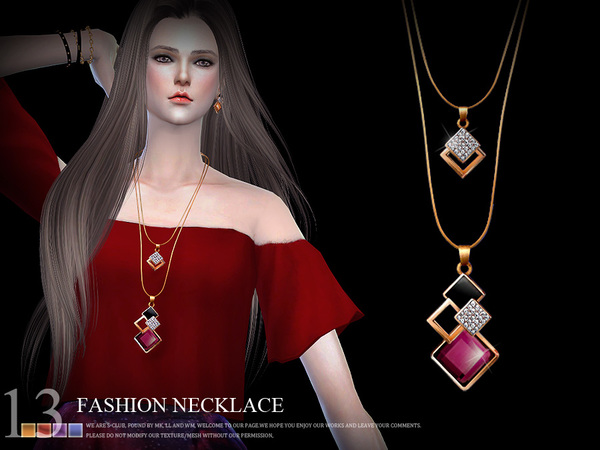 S-Club LL ts4 necklace N13