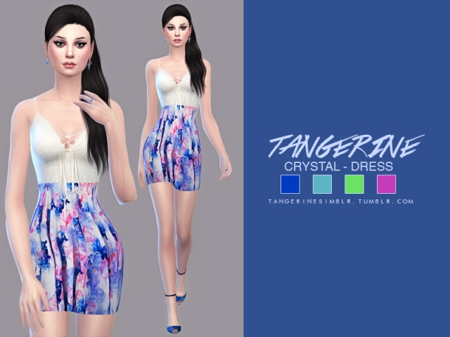 Crystal dress by tangerine