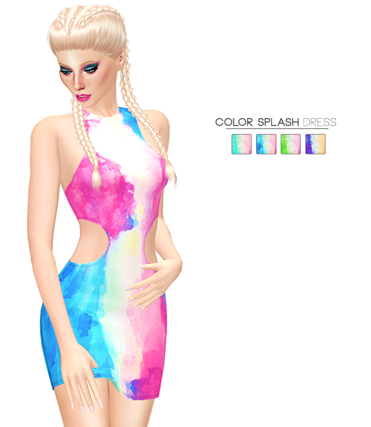 COLOR SPLASH DRESS by its-leeloo