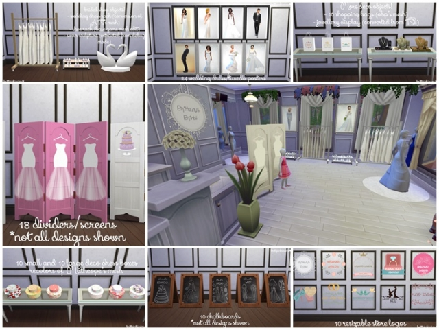 Bridal Shop Stuff Set by BrittpinkieSims