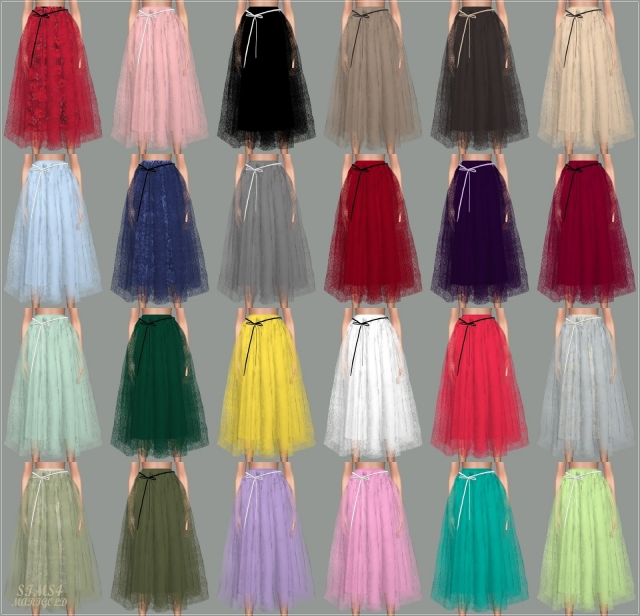 Ribbon Ballerina Long Skirt by marigold