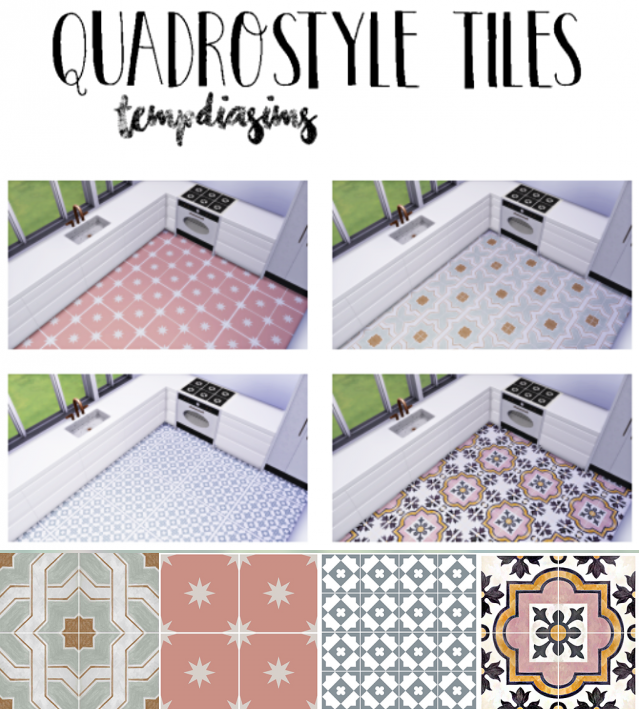 Quadrostyle tiles by Tempdiasims