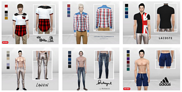MALE SET LOOKBOOK #1 by McLayneSims
