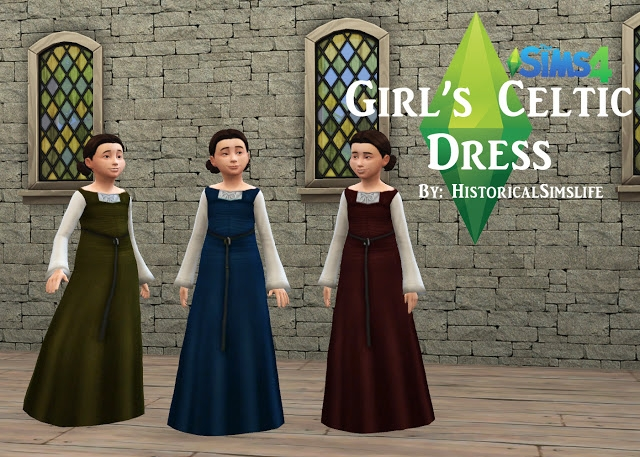 Girl's Celtic Everyday Dress by HistoricalSimsLife