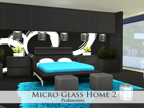 Micro Glass Home 2 by Pralinesims